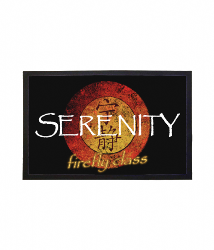 Firefly Class Ship Serenity Doormat Sci-fi TV Series Welcome Mat
